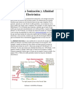 Energía de Ionización y Afinidad Electrónica