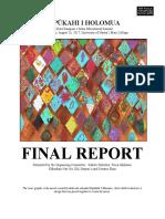 Final Report Pūpūkahi Papahana
