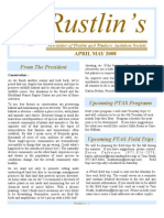 Apr-May 2008 Rustlin's Newsletter Prairie and Timbers Audubon Society