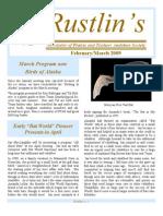 Feb-Mar 2009 Rustlin's Newsletter Prairie and Timbers Audubon Society