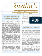 Oct-Nov 2009 Rustlin's Newsletter Prairie and Timbers Audubon Society