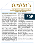 Feb-Mar 2010 Rustlin's Newsletter Prairie and Timbers Audubon Society