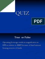 Quiz on Leverage