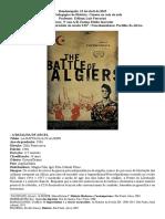 Capa Filme a Batalha de Argel