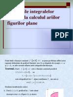 Aplicaţiile Integralelor Definite La Calculul Ariilor Figurilor Plane
