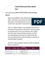 What Have Research Have You Done About Qatar and Doha