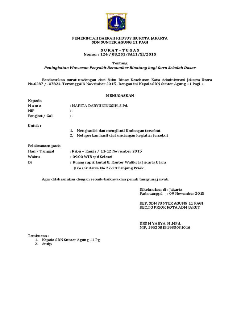 Contoh Surat Dinas Jakarta