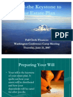 A Will-The Keystone to Your Estate Plan