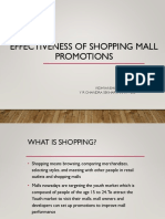 Effectiveness of Shopping Mall Promotions-Group 1