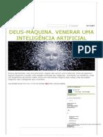Deus-máquina - Venerando Uma AI