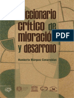 Diccionario Critico de Migración - Marquez Covarrubias, Humberto