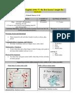 lesson plan 1  letter f