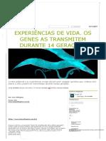 Experiências de Vida e Os Genes