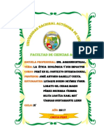 Informe Etica y Ecología Perú en El Contex.