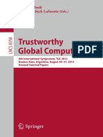 (Lecture Notes in Computer Science) Martín Abadi, Alberto Lluch Lafuente (eds.)-Trustworthy Global Computing_ 8th International Symposium, TGC 2013, Buenos Aires, Argentina, August 30-31, 2013, Revise