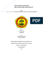 Tugas Mata Kuliah Kewarganegaraan (Falsafah Pancasila)