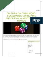 Cultura Da Corrupção