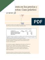 Proyecto Cok nominal Incremento Precios y Proyectos