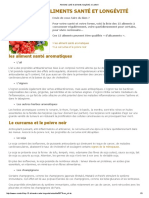Aliments Santé Et Aliments Longévité, E-sante