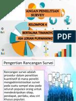 Rancangan Penelitian Survey Ppt