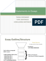 Thesis Statements in Essays