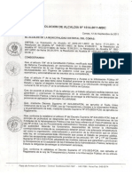 Resolucion de Alcaldia 1614-2011