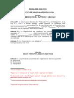 Modelo de Estatuto[1]