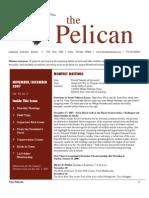 November-December 2007 Pelican Newsletter Lahontan Audubon Society