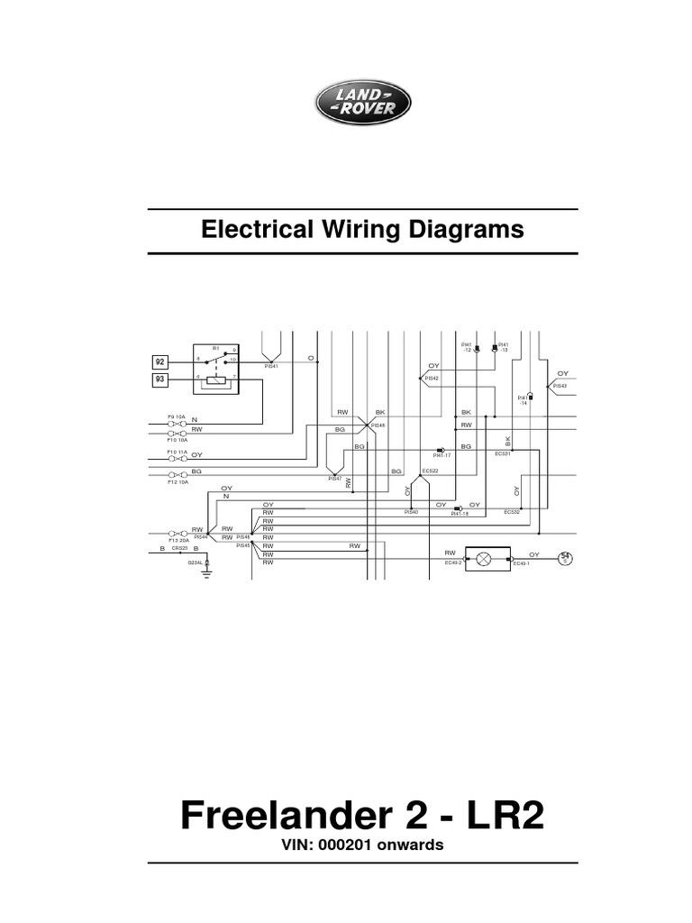 Lr2 Ignition Diagram Wiring Electrical Land Rover Freelander 2 Basic