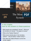 Chapter 29 the Monetary System