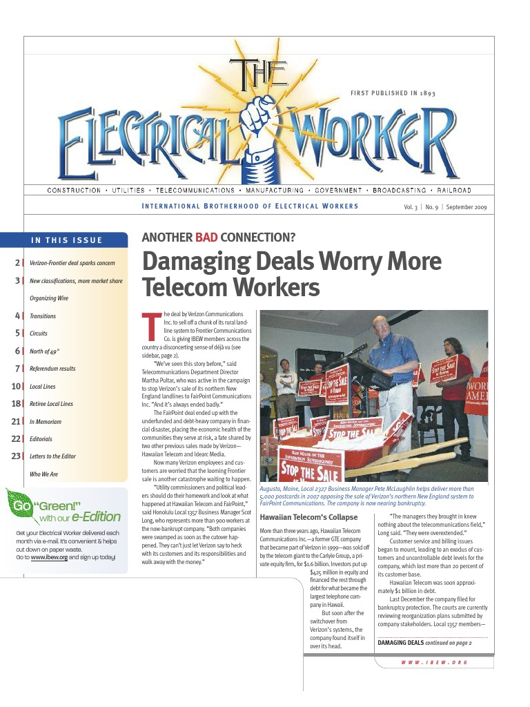The electrical worker september 2009 verizon communications the electrical worker september 2009 verizon communications electrician platinumwayz