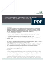 Methanol Injection Rate for Natural Gas Hydrate Prevention Be Careful What Simulators Tell You (1)
