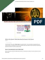 Allah Describes the Quran in the Quran _ IqraSense