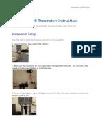 Rheo Meter Training Manual
