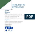 Analista de Admisión de Riesgos Empresariales