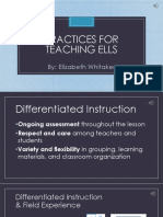 practices for teaching ells