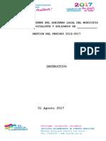 INSTRUCTIVO -Informe de Cierre - Gestion 2013-2017