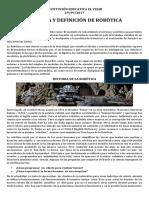 Definición e Historia de Robotica Septimo