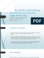 Baseline Study Methodology and Results Summary for Tafila