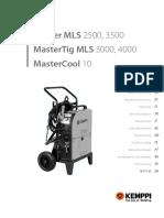 Master MLS 2500 3500 Operating Manual En