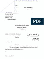 Obsidian Finance Group v. Crystal Cox Defamation, First Amendment Case