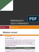 Preparacao TI - Quim - Modulo Inicial