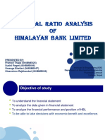 Financial Ratio Analysis of HBL