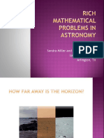 Rich Mathematical Problems in Astronomy