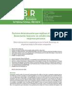 Articulo Factores Determinantes Que Explican El Acceso a La Financiacion Bancaria Un Estudio Empirico en Empresas Peruanas