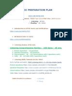 Toeic Preparation Plan(1)