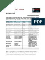 Recepcion de Facturas- Octubre