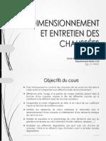 1Dimensionnement Et Entretien Des Chaussées - Objectifs Du Cours