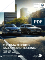 3 Series Saloon and Tourer 2016