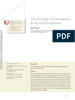 Warde (2015) the Sociology of Consumption- Its Recent Development